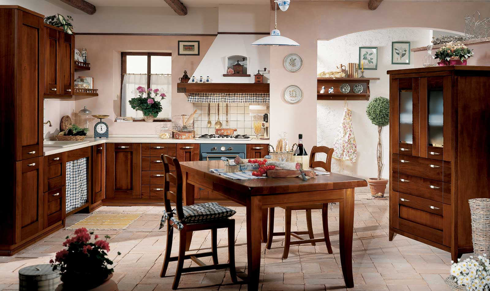 Cucine componibili arte povera top arredamenti tancredi - Cucine arte povera in muratura ...