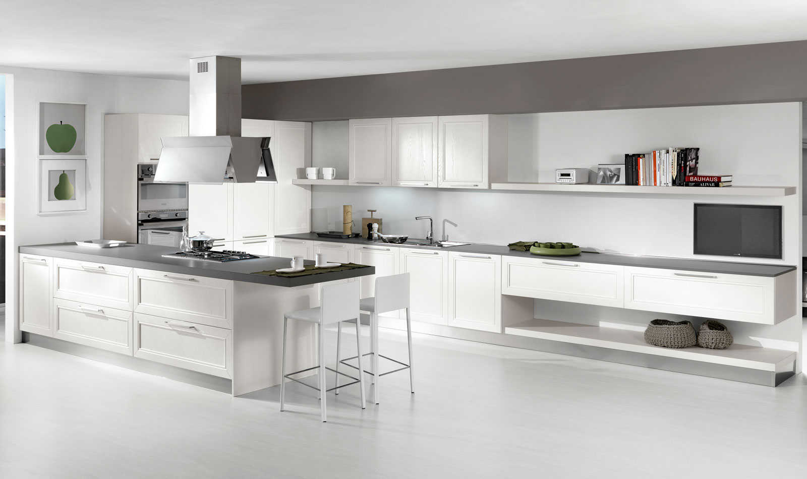 "Cucina Moderna Bianca Laccata cucina moderna ""itaca"" - negozio arredamento"
